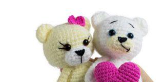 Crochet Bear With Heart Free Pattern