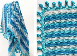 THE SNOWBALL THROW BLANKET Crochet Free Pattern