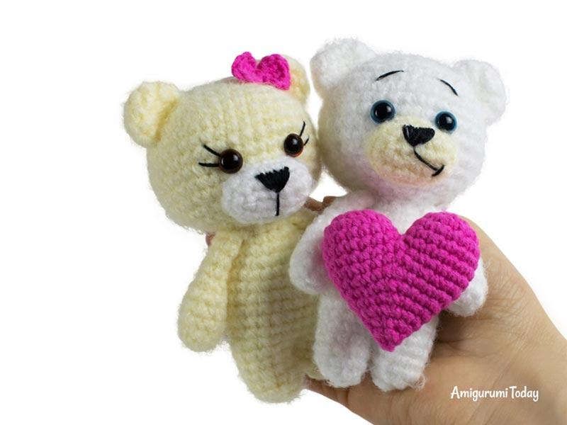 Free Teddy Bear crochet pattern - Amigurumi Today | 600x800