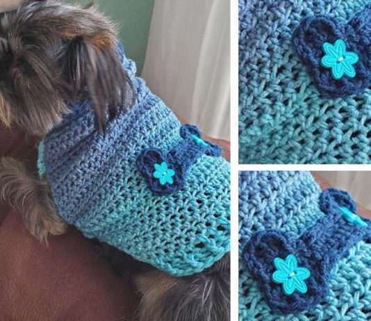 DOG SWEATER CROCHET FREE PATTERN