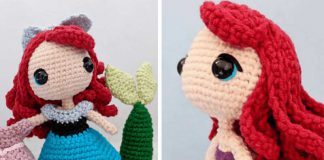 Ariel Mermaid Doll Free Crochet Pattern