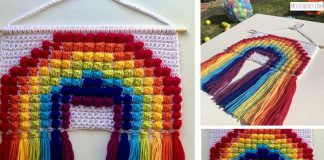 Rainbow Window Hanging Free Crochet Pattern