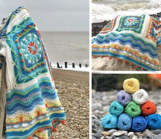 Crochet Beach Coastal Blanket Free Pattern