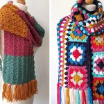 Easy Crochet Granny Square Scarf Free Pattern
