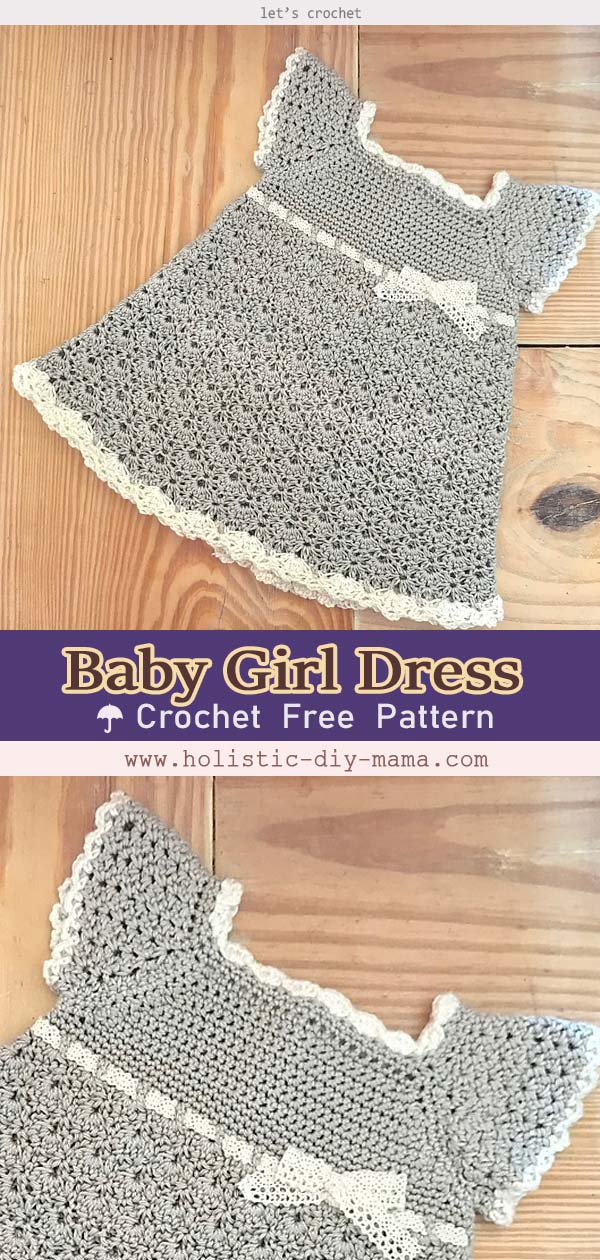 Stunning, Classic, Crochet Baby Girl Dress- Free Pattern