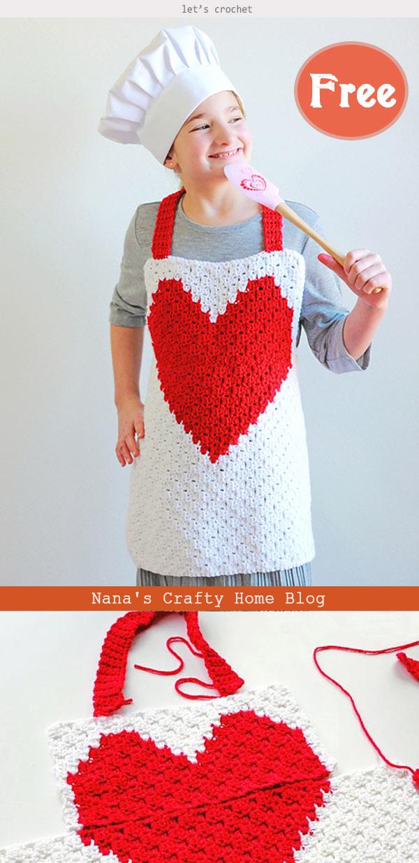 Child Apron Free Crochet Pattern
