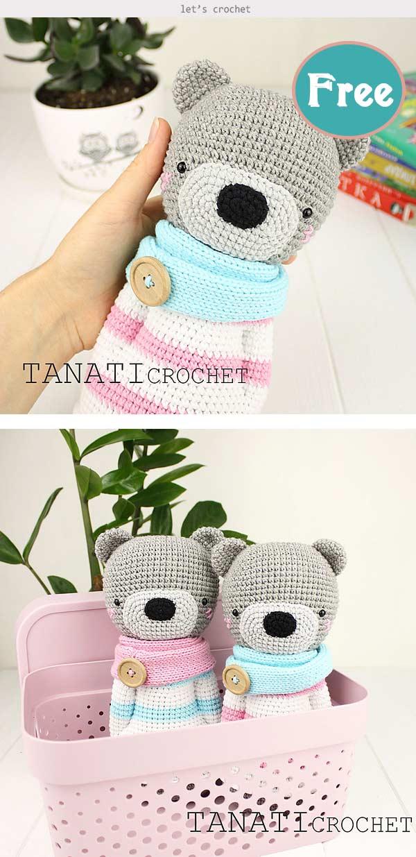 Toy Bear Free Crochet Pattern