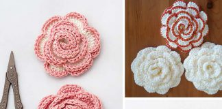 Rose Flower Crochet Free Pattern
