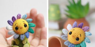 Little Sunflower Crochet Free Pattern