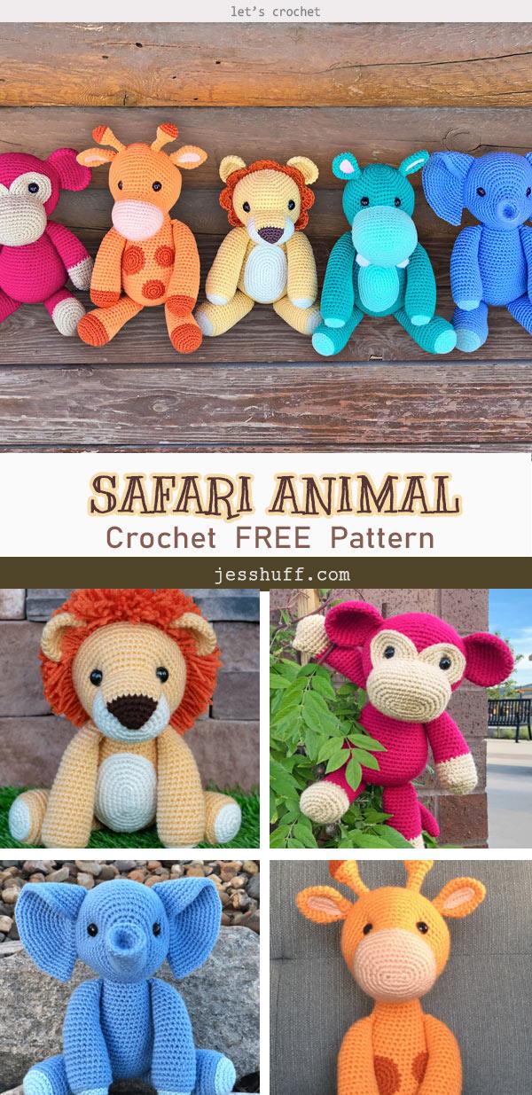 Safari Animal Amigurumi Free Crochet Pattern