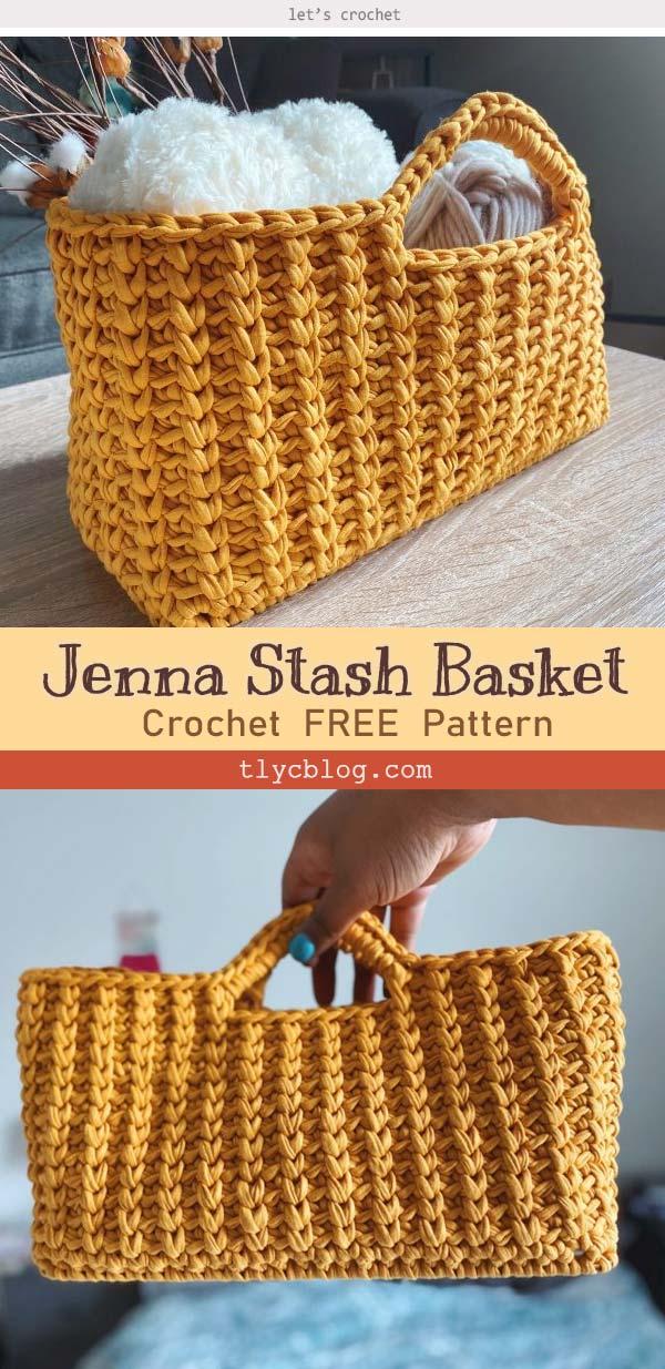 Jenna Stash Basket Free Crochet Pattern