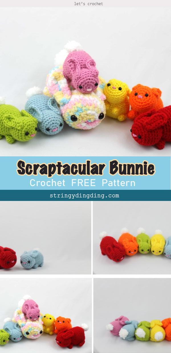 Scraptacular Bunny Free Crochet Pattern