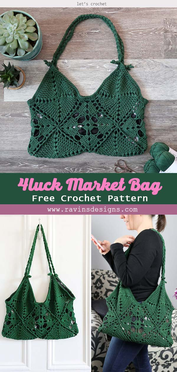 4luck Market Bag Free Crochet Pattern