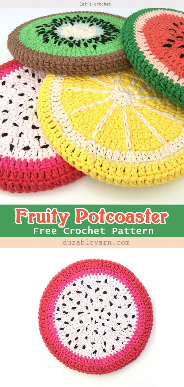 Fruity Potcoaster Free Crochet Pattern