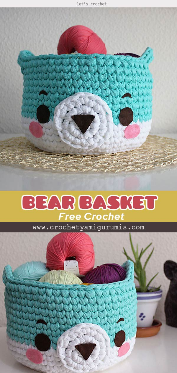 Bear Basket Free Crochet Pattern