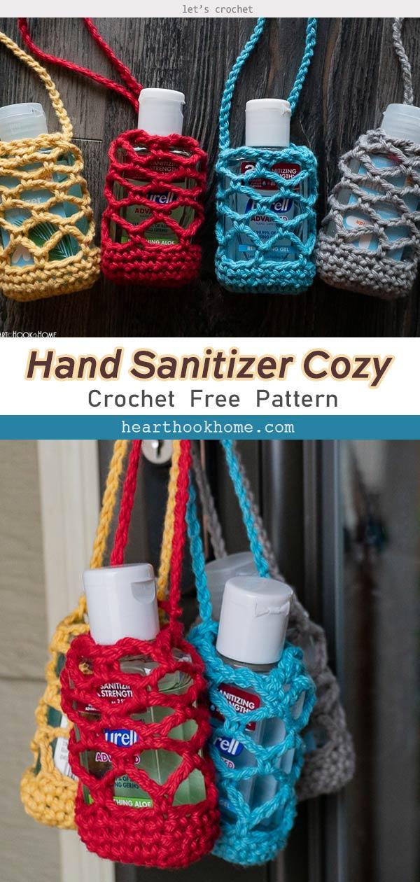 Crochet Hand Sanitizer Cozy Free Pattern