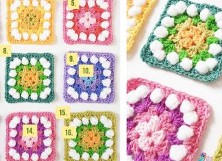 Easter Granny Rainbow Squares Free Crochet Pattern