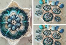Crochet Tally's Crafts Blue Lotus Flower Free Pattern