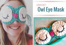 Crochet Owl Eye Mask Free Pattern