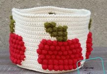 Crochet Bobbling for Apples Basket Free Pattern
