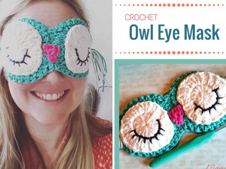 Crochet Owl Eye Mask Free Pattern