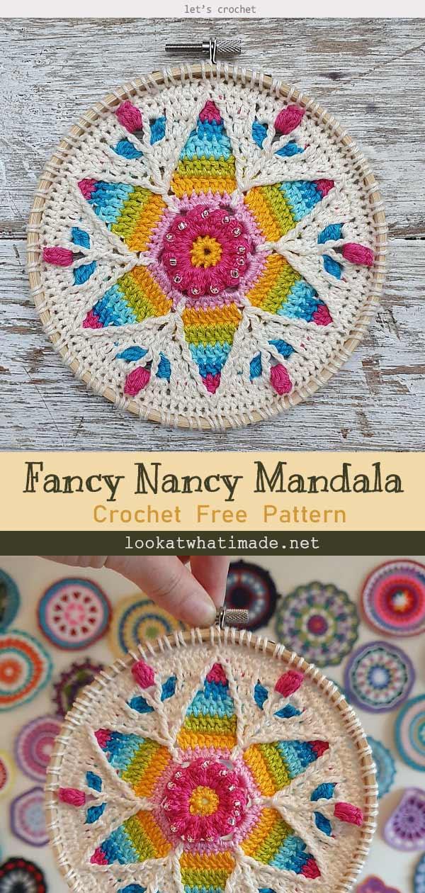 Fancy Nancy Mandala Free Crochet Pattern