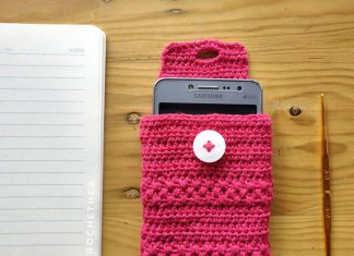 SIMPLY ELEGANT CELL PHONE POUCH CROCHET FREE PATTERN