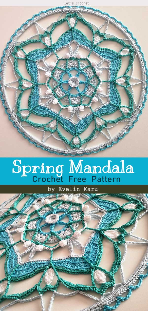 Whispers of Spring Mandala Free Crochet Pattern