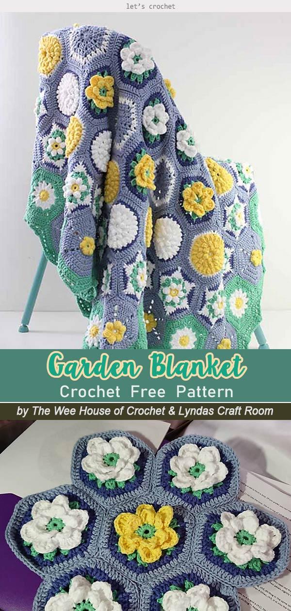 Water Garden Cal Blanket Free Crochet Pattern