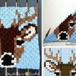 Deer Stag C2C Square Free Crochet Pattern