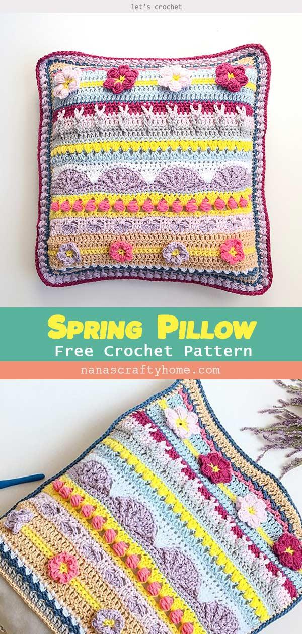 Spring Rhapsody Pillow Free Crochet Pattern