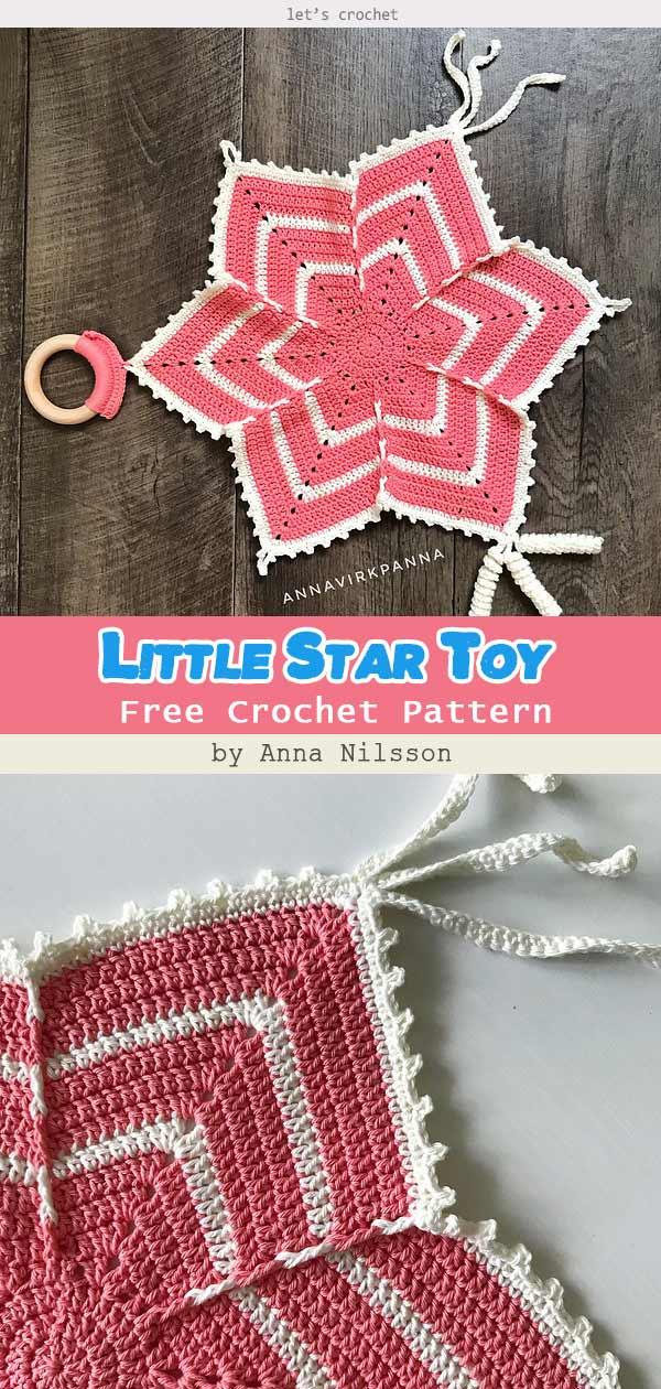 Little Star Toy Blanket Free Crochet Pattern