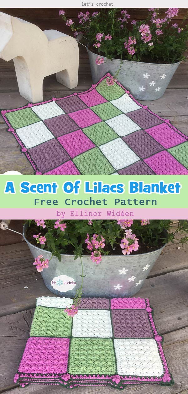 A Scent Of Lilacs Blanket Free Crochet Pattern