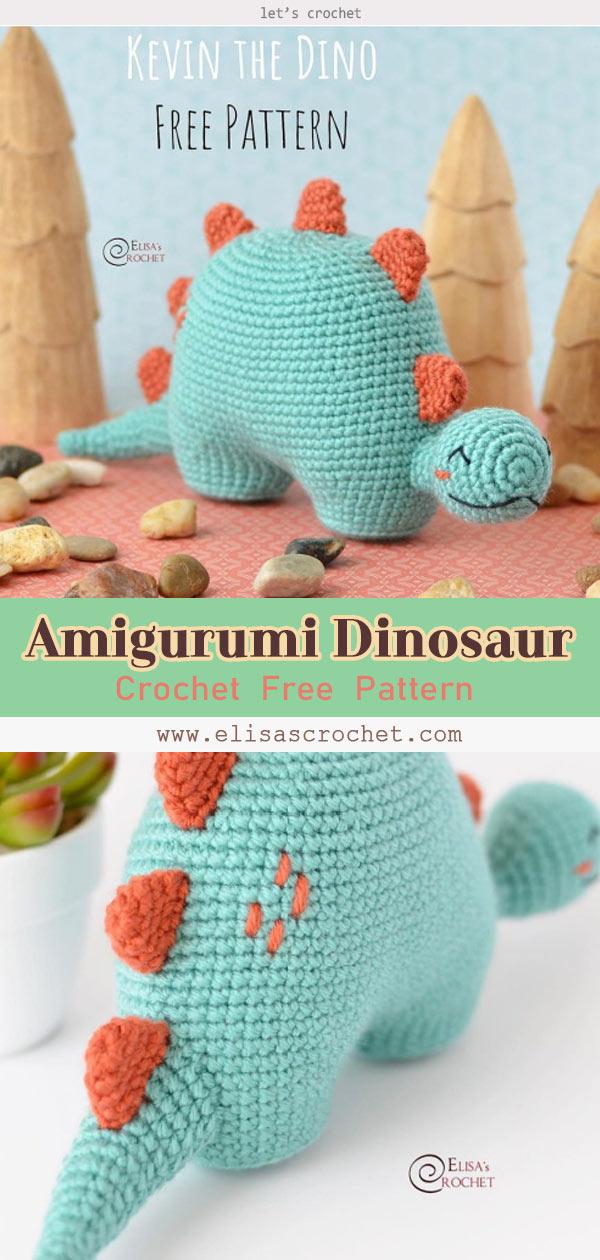 3 Dinosaur Amigurumi Free Crochet Pattern