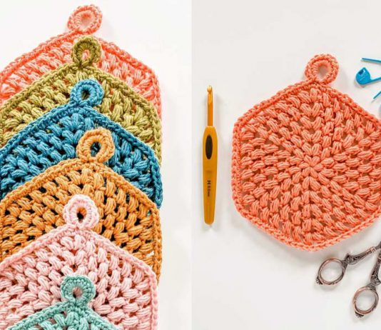 Crochet Puff Coasters Stitch Trivet Free Pattern