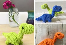 Tiny Dinosaur Amigurumi Free Crochet Pattern