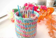 Double Trouble Basket Free Crochet Pattern