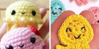 Crochet Jellyfish And Octopus Appliques Free Pattern