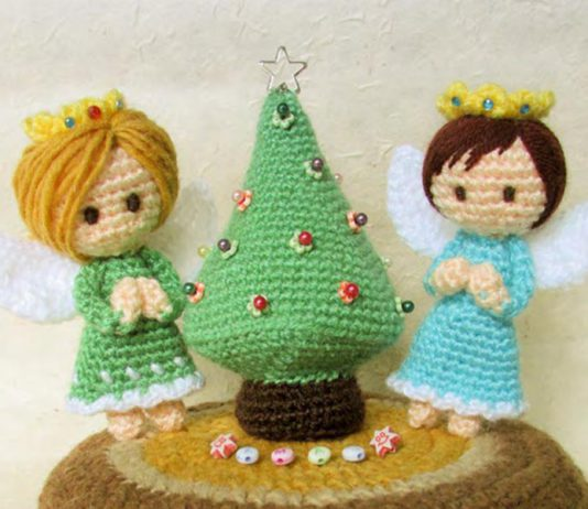 CROCHET CHRISTMAS TREE & ANGELS FREE PATTERN
