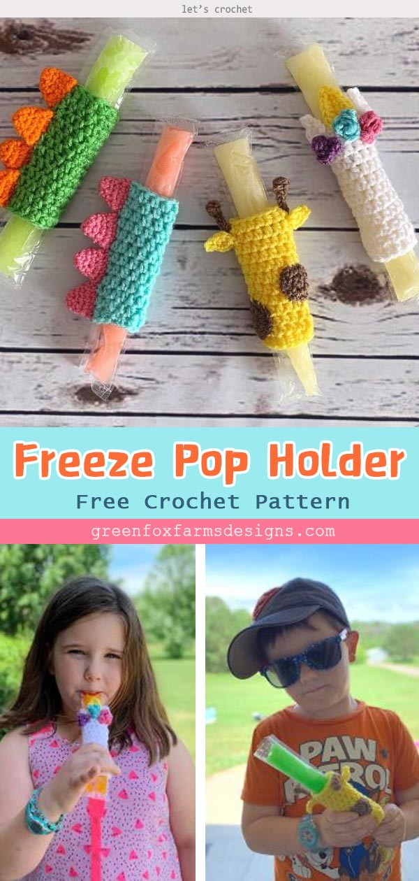 Freeze Pop Holder Free Crochet Pattern