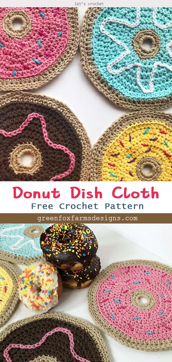 Donut Dish Cloth Free Crochet Pattern