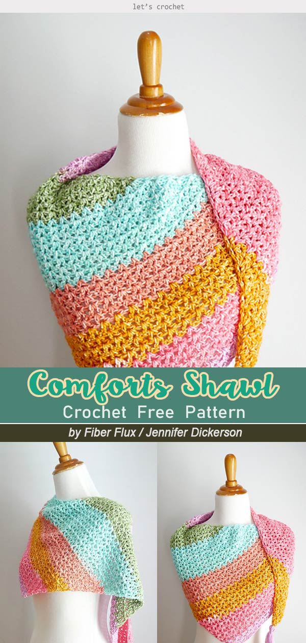 Comforts of Home Shawl Free Crochet Pattern