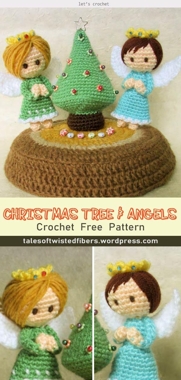 CROCHET CHRISTMAS TREE & ANGELS FREE PATTERN