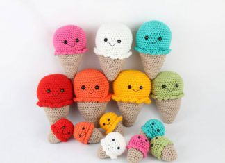 Ice Cream Amigurumi Free Crochet Pattern