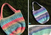 Speedy V-stitch Market Bag Free Pattern Pattern