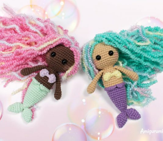 Little Mermaid Amigurumi Crochet Free Pattern