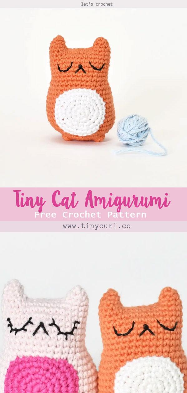 Tiny Cat Amigurumi Free Crochet Pattern