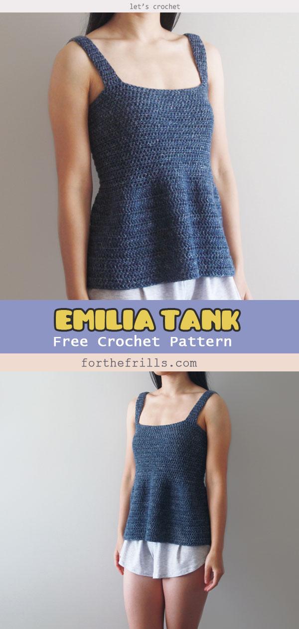 Emilia Tank Top Free Crochet Pattern