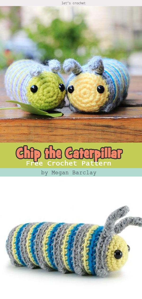 Chip the Caterpillar Free Crochet Pattern