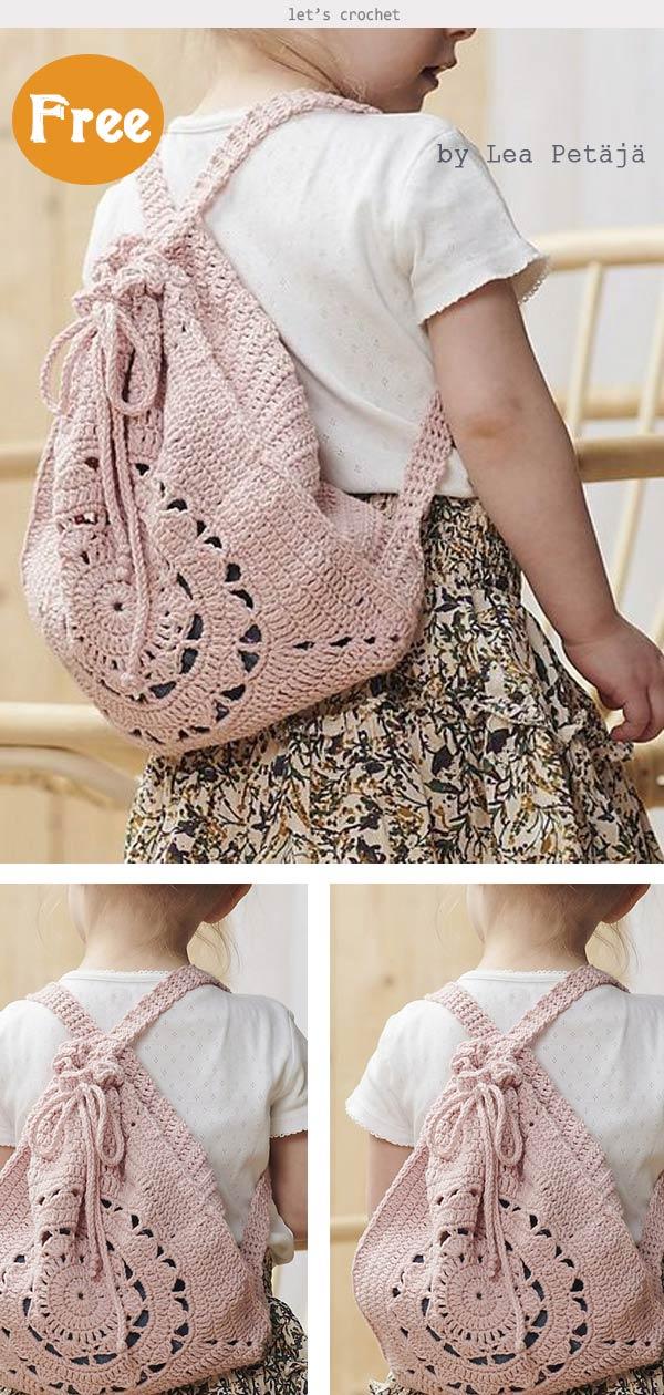 Summer Backpack Free Crochet Pattern